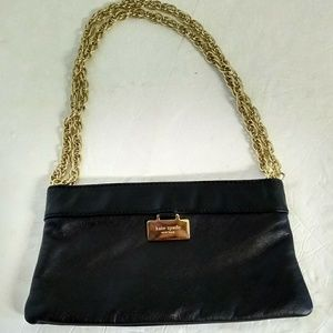 Kate Spade NY Black Leather Chain Bag.